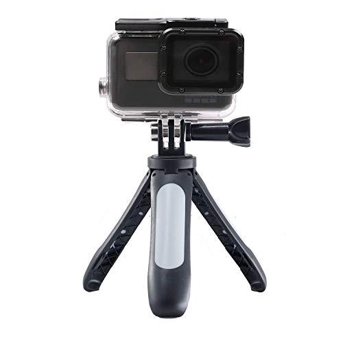 Linghuang Extension trípode selfie Stick para DJI Osmo Action/DJI Osmo Pocket/GoPro Hero 7 6 5 4/Insta360/Xiaomi Yi 4K + EKEN SJCAM Action Cam/Mini soporte (blanco)