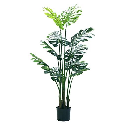 Qud Simulación de plástico falso planta en maceta tropical palmera, plantas paisaje artificial, decoración de accesorios de regalo 20/4/3, X-Large