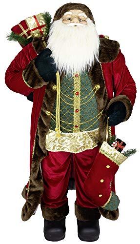 Christmas Paradise Deko Weihnachtsmann Figur Santa Valentin 120cm Rot