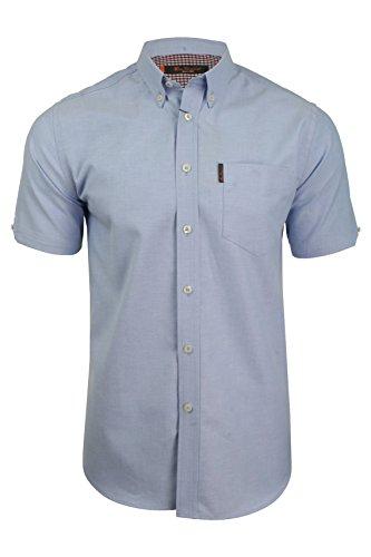 Ben Sherman Oxford Herren-Shirt, kurzärmelig Gr. XL, blau