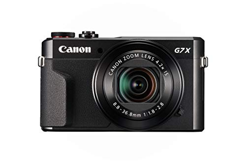 Canon PowerShot G7 X Mark II Digital Camera w/ 1 Inch Sensor and tilt LCD screen - Wi-Fi & NFC Enabled (Black) (Renewed)