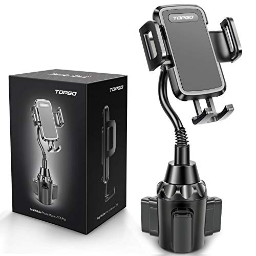 Car Cup Holder Phone Mount Adjustable Gooseneck Automobile Cup Holder Smart Phone Cradle Car Mount for iPhone 11 Pro/XR/XS Max/X/SE/8 Plus/6s/Samsung Galaxy S20+/Note 10/S9/S7 Edge(Black)