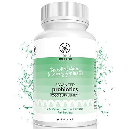 Herbal Holland Advanced Probiotics for Women & Men – Maximum Strength Probiotic Supplement with 14 Billion CFUs Per Capsule - Vegan Probiotics for UTI, Digestive Health & Immune Support – 90 Capsules