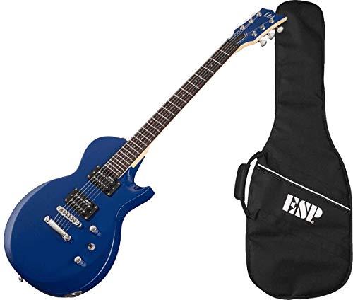 LTD EC-10 Blue Guitarra Eléctrica 6 Cuerdas con Funda, Azul