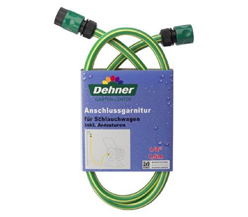 Dehner Anschlussgarnitur für Schlauchwagen inkl. Armaturen, 1.5 m, 1/2 Zoll