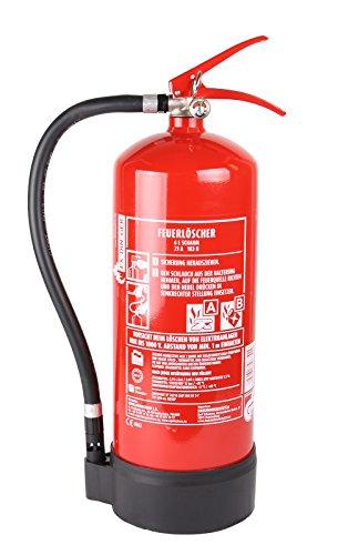 HausundWerkstatt24 6l Feuerlöscher Schaum blau 6L AB 6LE mit Halterung Dauerdrucklöscher (GPN-6X Instandhaltungsnachweis