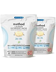Method Laundry Detergent Packs, Ginger Mango, 42 Count, 4 Pack, Packaging May Vary