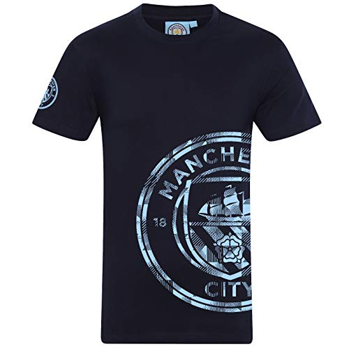 Manchester City FC Official Football Gift Mens Graphic T-Shirt Navy Medium