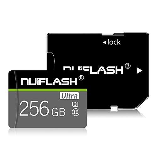 256 GB Micro SD-Speicherkarte, SD-Speicherkarte (Klasse 10 High Speed) TF-Karte mit Adapter für Kamera, Telefon, Computer, Nintendo Switch, Dash Came, Überwachung, Drohne