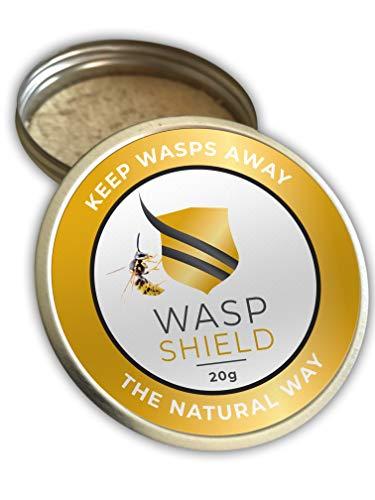 WASP SHIELD Avispa Repelente orgánico Insecticida Natural a Base de aceites Esenciales – Sin DEET ni Contacto cutáneo – Alternativa eficaz a Aerosoles y trampas - para Uso Interior y al Aire L