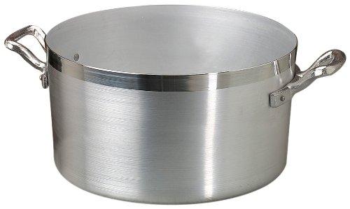 Casseroles Agnelli Marmite Haute en Aluminium BLTF, avec 2 Poignées en Acier INOX, Argent, 10 litres