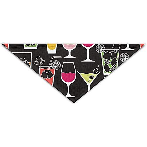 Emilde alcoholische dranken en cocktails huisdier sjaal hond kat bandana kragen driehoek halsdoek