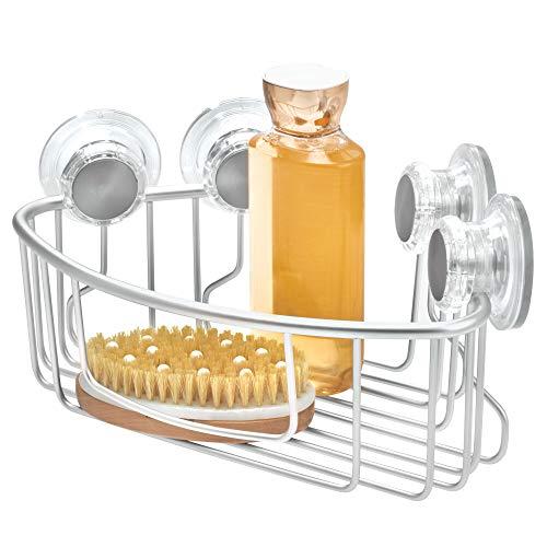 InterDesign シャワーラック 風呂 バスルーム 防錆加工 アルミ製 吸盤 Metro シルバー 20710EJ