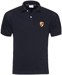 Genuine Porsche Crest Polo Shirt - Black - U.S. Size Large