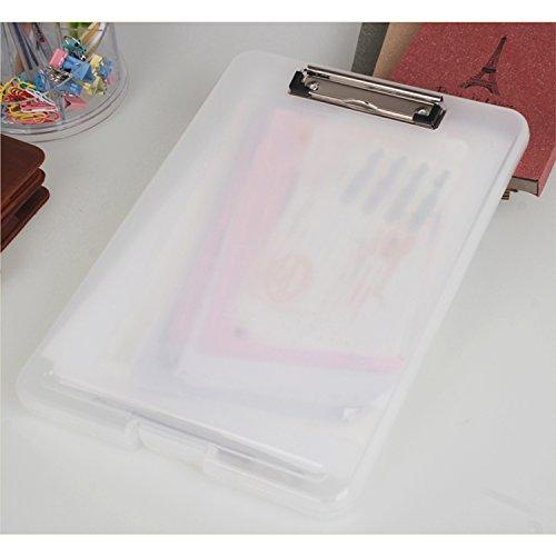 『Panavage クリップボードフォルダ a4 ファイルボード バインダー 会議用パッド 半透明』のトップ画像