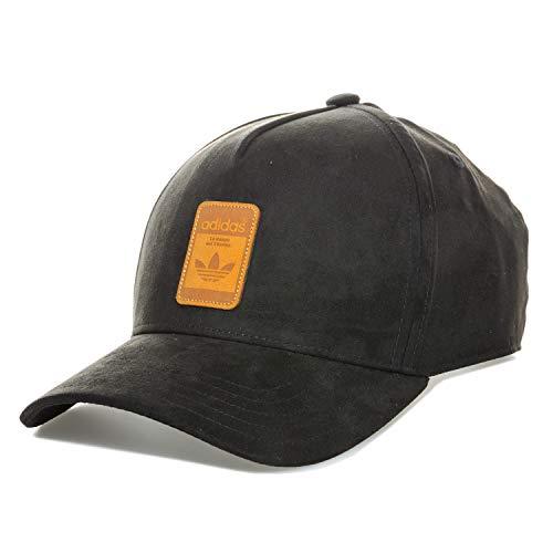 adidas Originals - Gorra de ante para hombre, color negro
