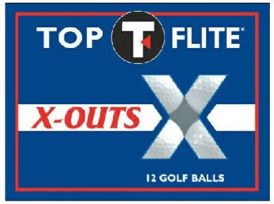 Caddyshack Golf 12-281 12-Pack Top-Flite X-Out Golf Balls - Quantity 1