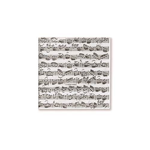 Papieren servetten Bladmuziek 25x25cm