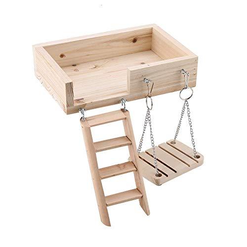 Escalera de madera de hámster,Mascota pequeña hámster a