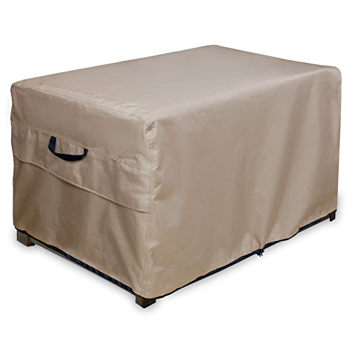 ULTCOVER Patio Deck Box Storage Bench Cover - Waterproof Outdoor Rectangular Table Covers 44 x 28 inch