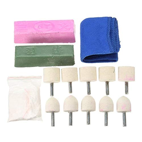 Sale!! Multitool Sanding Kits 14pcs Wheel for Aluminium Brass Copper Alloys Metal Polishing Kit Wool Polishing for Sanding, Grinding, Cutting, Removing Grout