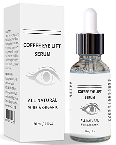 Mererke_Pretty Coffee Eye Lift Serum, Organic, Anti Aging, Natural Reduces Puffiness, Brightens Tired Eyes (30ml/1 Fl.oz)