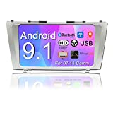 Binize 9 Inch Toyota Camry Android Car Stereo Radio Touchscreen Multimedia Player/GPS Navigation Receiver/Autoradio/Bluetooth/Dual USB/Backup Camera Input for 07-11 Camry (Camry 2G RAM+16G ROM)