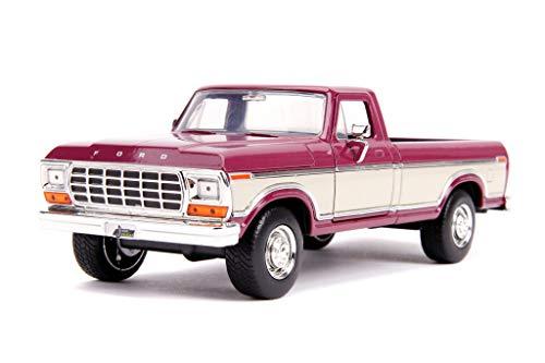 Jada Toys Just Trucks 1979 Ford F-150 1:24 Die-cast Car Metallic Burgundy, Toys...