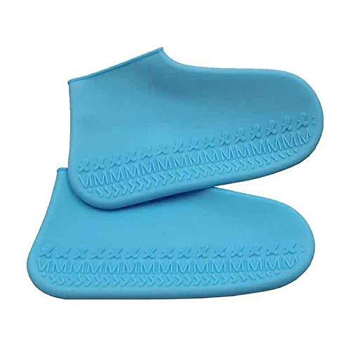 WEIXIAO WLKH 1 Pareja Reutilizable látex Impermeable Zapatos de Lluvia Cubiertas de Caucho Resistente a la Lluvia de Goma sobresiliosos S/m/l Zapatos Accesorios (Color : L, Size : Medium)