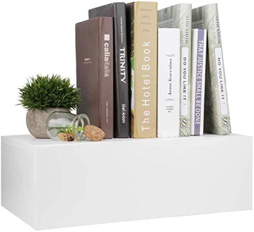 Mesita de noche estante de pared con cajón, estante de noche, estante de mesa flotante, mesita de noche, almacenamiento en la pared de 30 x 46 x 15 cm, mesa auxiliar