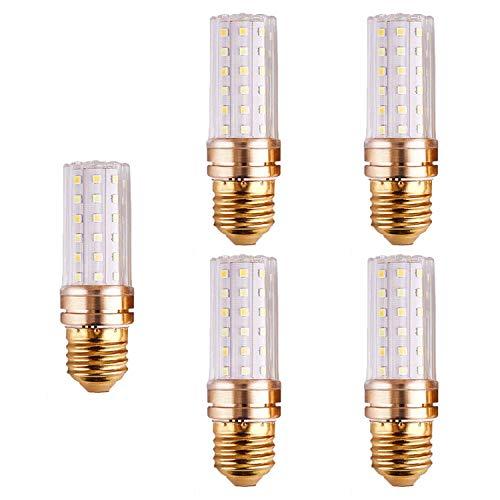 FYJK Bombilla LED E14 / E27 luz Blanca/luz Blanca cálida/luz Tricolor 5W / 6W / 7W para lámpara de Escritorio, Luces Colgantes (Paquete de 5),E27 6w Tricolor