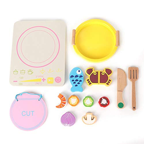 Simulatie apparaat speelgoed, houten simulatie inductie kookplaat keuken huishoudapparatuur speelhuis speelgoed