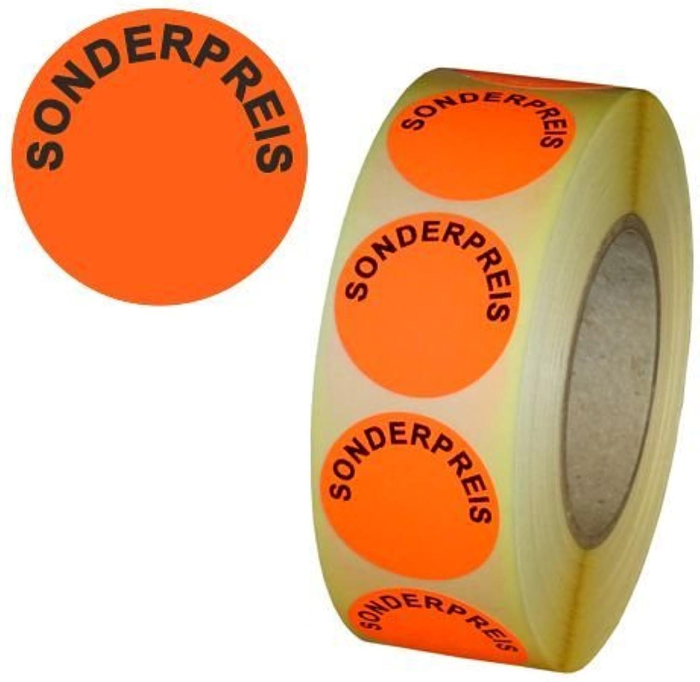 Aktionsetiketten  SONDERPREIS    - Durchmesser 30 mm - Leuchtrot - 5.000 Stück B01HDJLRWK  | Öffnen Sie das Interesse und die Innovation Ihres Kindes, aber auch die Unschuld von Kindern, kindlich, glücklich  38395a