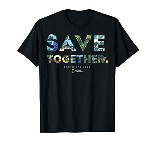 National Geographic Earth Day 2020 Save Together Collage T-Shirt