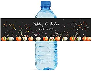 100 Fall Pumpkins Autumn Theme Water Bottle Labels Great for Weddings Anniversary Birthday Family Reunion and All Your Special Events