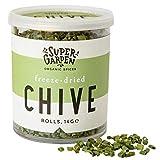 Supergarden Cebollino liofilizado - Producto 100% puro y natural - Apto para veganos - Sin azúcares, aditivos artificiales ni conservantes añadidos - Sin gluten - No OMG