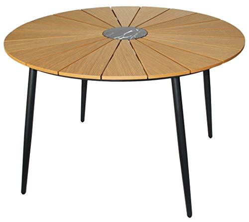 KMH®, Runder Holzimitat-Tisch/Gartentisch *Wolfsburg* Ø 120 cm (#106161)