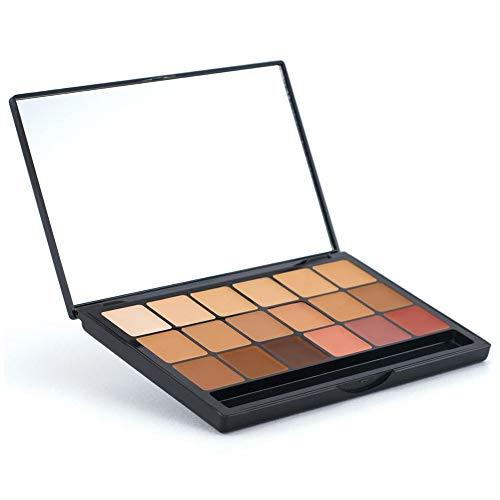 Graftobian HD Glamour Creme Foundation Cool Super Palette - 18 High Definition Cool Undertone Cream Shades