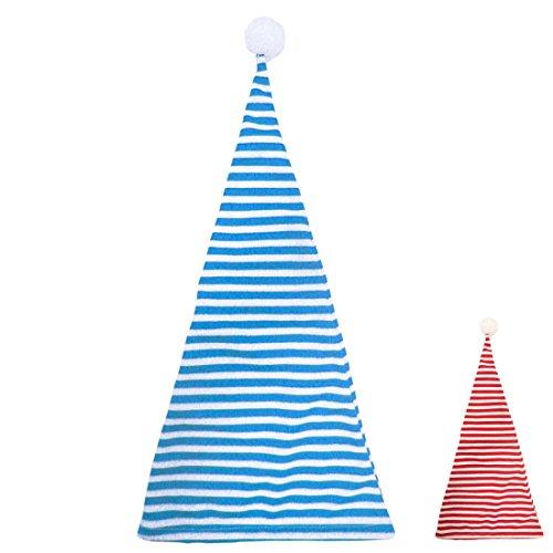Amakando Schlafmütze Zipfelmütze blau weiß gestreift Nachtmütze Geringelt Schlafwandler Kostüm Accessoire Pyjamaparty Zubehör Nachthemdenball