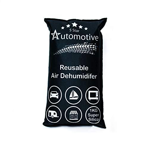 The Glowhouse 5 Star Auto-Luftentfeuchter aus Kieselgel, wiederverwendbar, feuchtigkeitsabsorbierende Tasche, Auto-Entfeuchter, verhindert Kondensation, inkl. Anti-Rutsch-Matte
