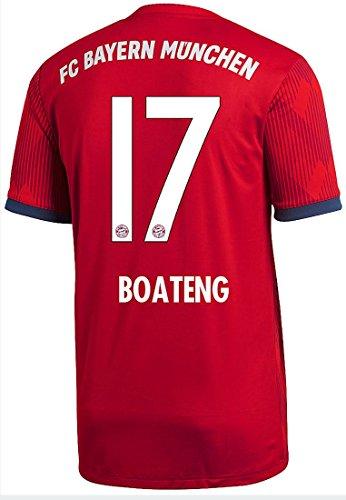 adidas FC Bayern München Trikot Home 2018/2019 Herren (Boateng, L - 52/54)