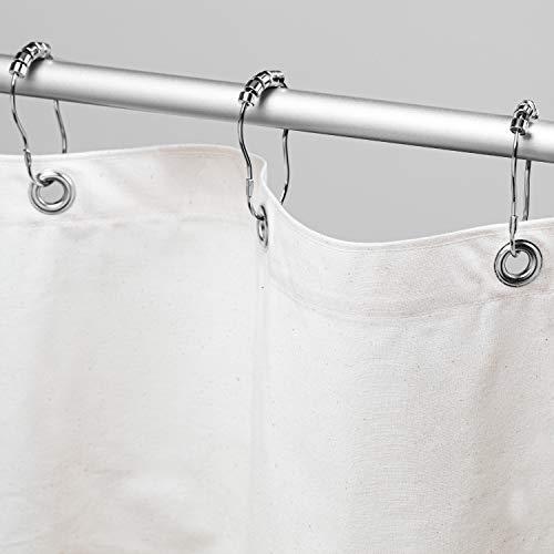 Bean Products Duschvorhang, Bio-Baumwolle, 178 x 188 cm, aus natürlichen Materialien, hergestellt in den USA, funktioniert mit Badewannen-, Badewannen- und Stallduschen, inkl. Duschringe