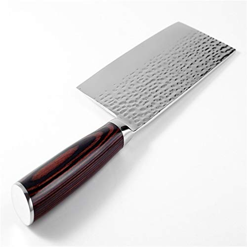 Cuchillos de chef Cocinero del cuchillo de Damasco de acero inoxidable Forja anti palo afilado Cleaver Pescado Verduras chino cuchillo de cocina que cocina la herramienta del hogar ( Color : Black )