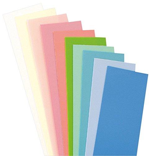 efco Wachsplatten Pastell-Mischung, 200 x 50 x 0,5 mm, 10 Stück