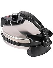 12 inch Elektrische tortilla Maker/Roti Maker met instelbare temperatuurregeling en een ready light-indicator, de automatische non-stick elektrische chapati-maker om Chapati, tortilla te maken
