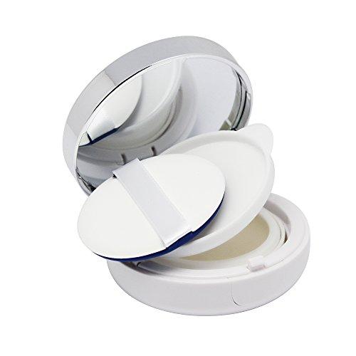 SelfTek Empty Powder Puff Box Air Cushion Container for DIY BB/CC Cream Liquid Foundation with Mirror and Sponge Puff