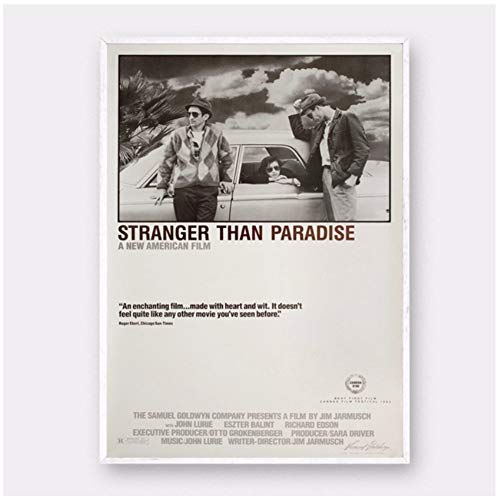 Stranger Than Paradise movie Poster Painting Art Poster Decoration gift Home Decor Picture Wall Print en lienzo -50x70cm Sin marco