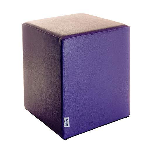 Pouf cubique violet - Dimensions : 35 x 35 x 42 cm.