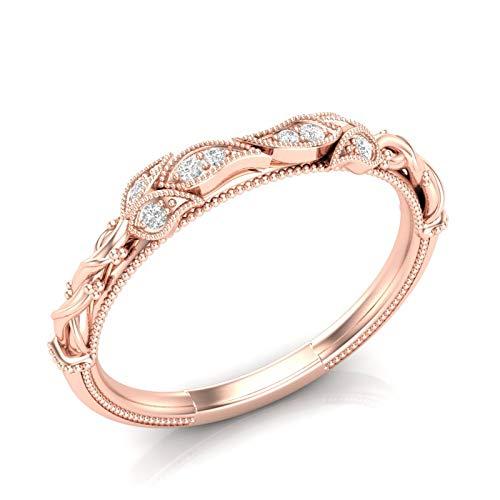 14K Rose Gold Rope Eternity Band Size 6