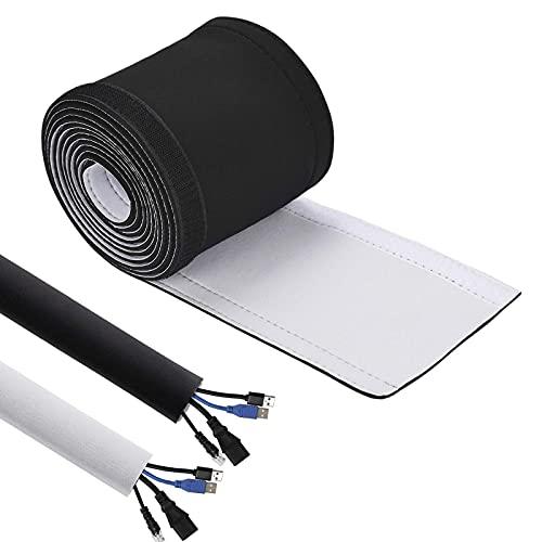 Tubo protector de cables, 3 m, negro, con brida de velcro, diámetro...